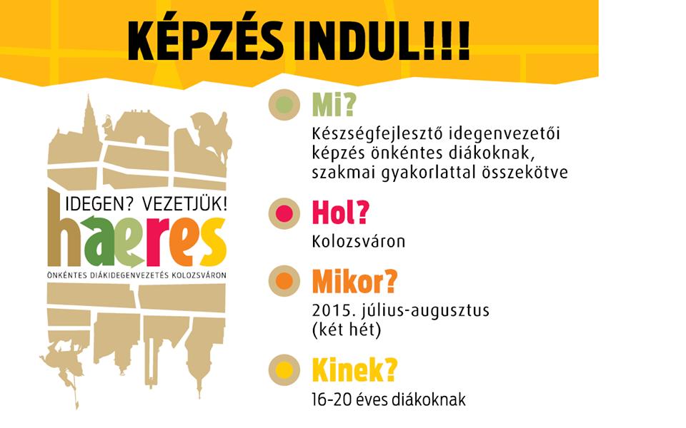 Idegen? Vezetjük! – Haeres Önkéntes Diákidegenvezetés Kolozsváron