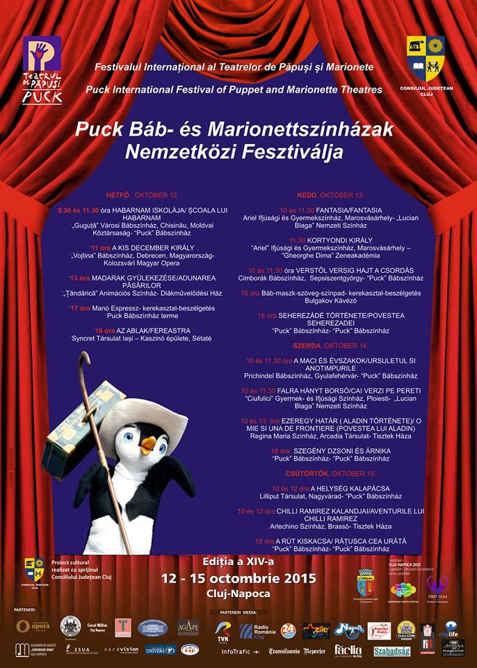 Puck Báb- és Marionettszínházak Nemzetközi Fesztiválja Kolozsváron