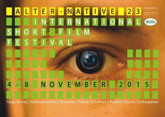 Ma délután kezdődik Marosvásárhelyen a 23. Alter-Native Nemzetközi Rövidfilm Fesztivál