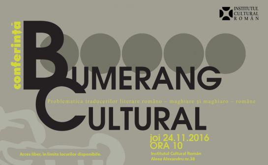 Kulturális bumeráng – konferencia  a műfordításról