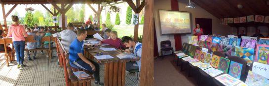 """Rajztábor a gyergyószárhegyi gyermekotthonban & Művészetterápia az Alpha Transilvană Alapítvány """"Kreatív"""" csoportjában"""