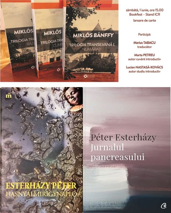 Bánffy Erdélyi története és Esterházy Hasnyálmirigynaplója románul a Bookfesten