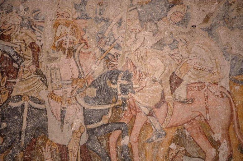 A Szent László-legendát ábrázoló középkori falképet restauráltak