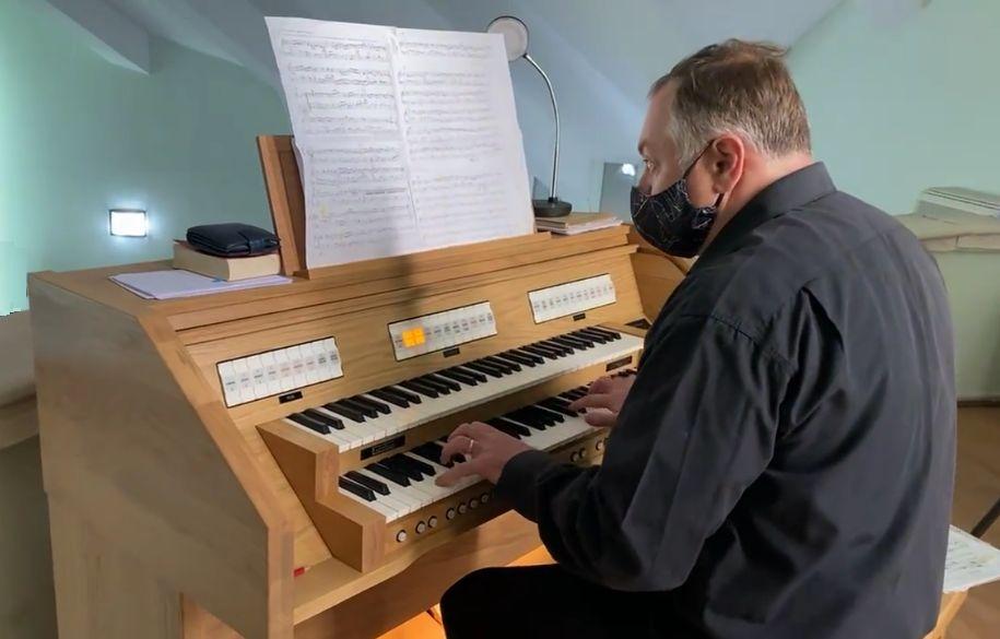 Erich Türk orgonaművész Bukarestben